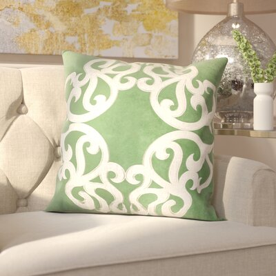 Milliman Applique Velvet Throw Pillow