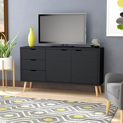 Waites Wooden 59 TV Stand Color: Dark Gray