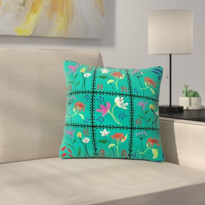 DLKG Design Simple Garden Tiles Floral Outdoor Throw Pillow Size: 18 H x 18 W x 5 D
