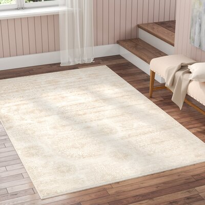 Brandt Beige Area Rug Rug Size: Rectangle 33 x 53