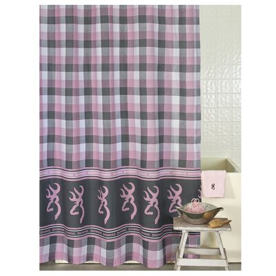 Buckmark Plaid Shower Curtain