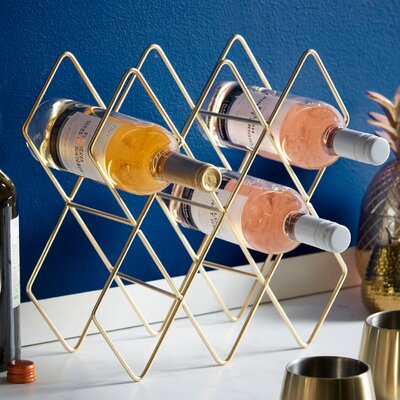 Storage Shelves Holder 8 Bottle Tabletop Wine Rack