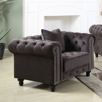Leyton Upholstered Chesterfield Chair