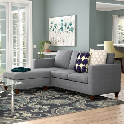 Luella Reversible Sectional with Ottoman Upholstery: Gray (Polyester/Polyester blend)