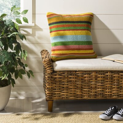 Holasice Striped Outdoor Throw Pillow