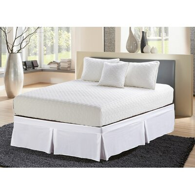 Boothby Easy Wrap Elastic Tailored Bed Skirt Size: Queen, Color: White