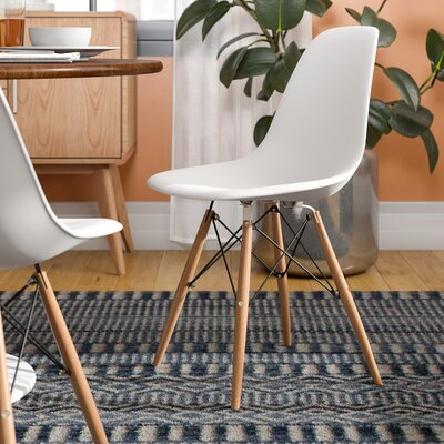 Brook Solid Wood Dining Chair Color: White
