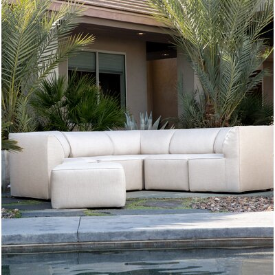 Big Joe Patio Sectional With Cushions Color: Cream