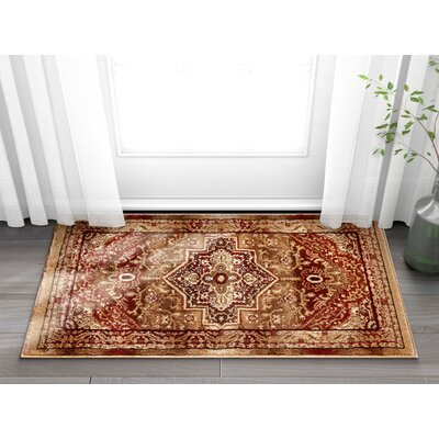 Marone Traditional Medallion Red Area Rug Rug Size: Rectangle 23 x 311