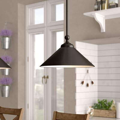 Debra 1-Light Mini Pendant Base Finish: Oil Rubbed Bronze