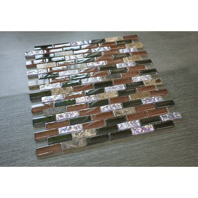 0.63 x 2 Mixed Material Tile in Green/Brown