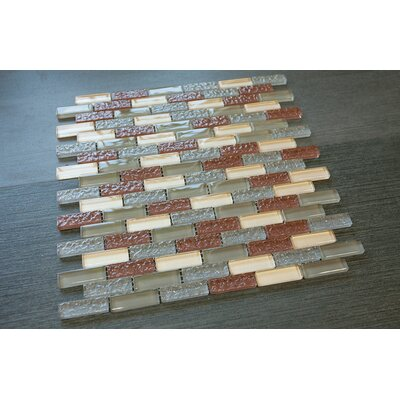 0.63 x 2 Glass Tile in Green/Brown/Yellow