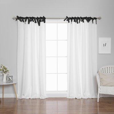 Harbuck Polyester Solid Semi-Sheer Tab Top Curtain Panels