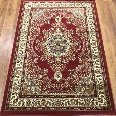 Marenco Oriental Red/Beige Area Rug Rug Size: Rectangle 8 x 10