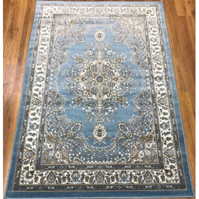Marenco Oriental Blue/Beige Area Rug Rug Size: Rectangle 8 x 10