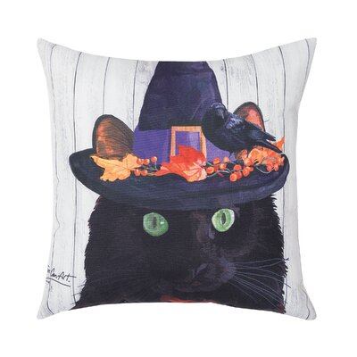 Fergerson Black Cat Indoor/Outdoor Throw Pillow