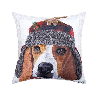 Feltman Winter Hat Beagle Indoor/Outdoor Throw Pillow