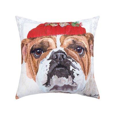Feltman Hat Bull Dog Indoor/Outdoor Throw Pillow