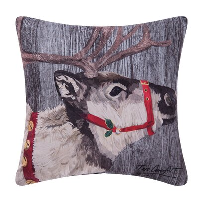 Fergerson Reindeer Indoor/Outdoor Throw Pillow