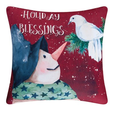 Fergerson Holiday Blessing Indoor/Outdoor Throw Pillow