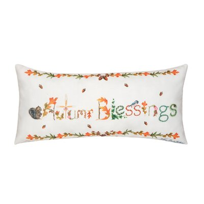 Fergerson Autum Blessings Indoor/Outdoor Lumbar Pillow