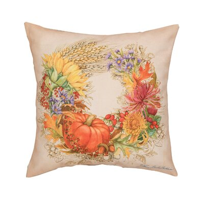 Fergerson Autum Wreath Indoor/Outdoor Throw Pillow