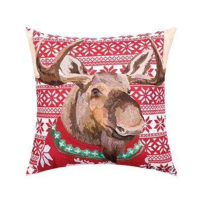 Felten Sweater Moose Indoor/Outdoor Throw Pillow