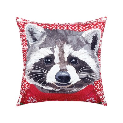Felten Raccoon Indoor/Outdoor Throw Pillow