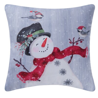 Fergerson Snowman Indoor/Outdoor Throw Pillow