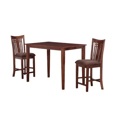 Flossmoor 3 Piece Pub Table Set Color: Cappuccino