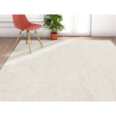 Olszewski White Area Rug Rug Size: Rectangle 53 x 73