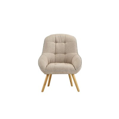 Draeger Tufted Upholstered Armchair Upholstery: Beige