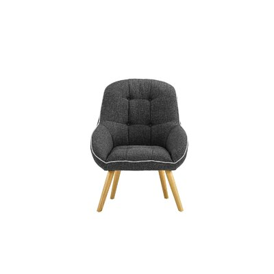 Draeger Tufted Upholstered Armchair Upholstery: Dark Gray