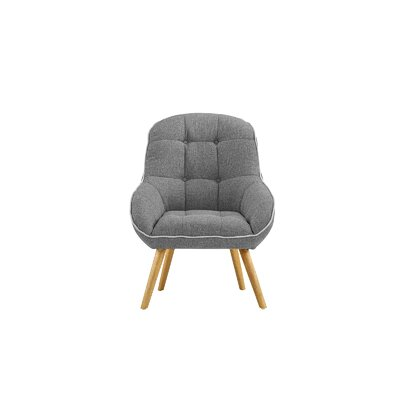 Draeger Tufted Upholstered Armchair Upholstery: Light Gray