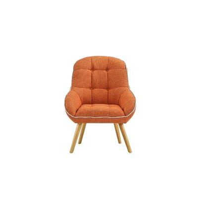 Draeger Tufted Upholstered Armchair Upholstery: Orange