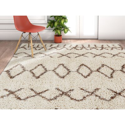 Olszewski Natural/Brown Area Rug Rug Size: Rectangle 53 x 73