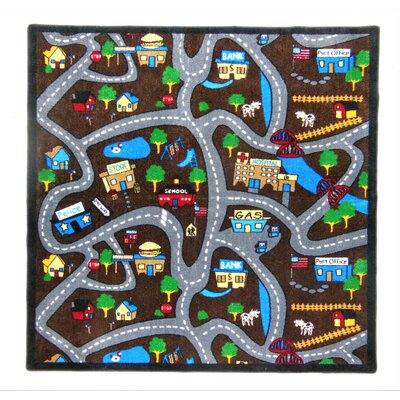 Jepsen Country Roads Brown Area Rug