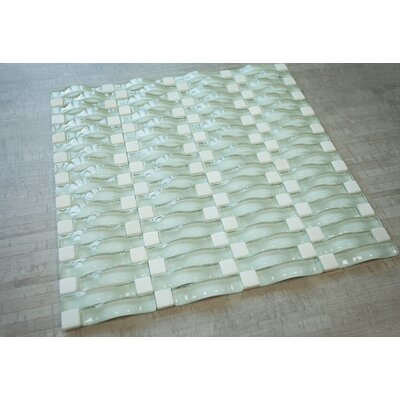 3D Bridge Random Sized Mixed Material Tile in Beige