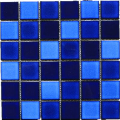 Tropical Night 2 x 2 Porcelain Tile in Blue