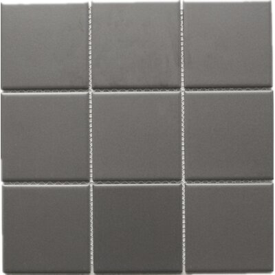 4 x 4 Porcelain Mosaic Tile in Brown