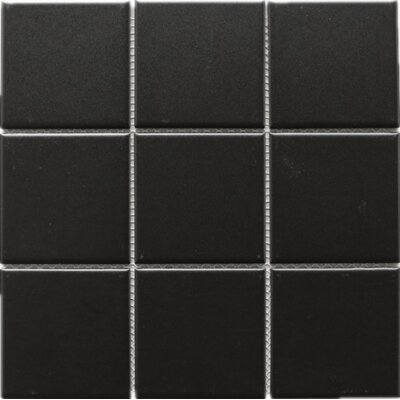 Absolute 4 x 4 Porcelain Tile in Black