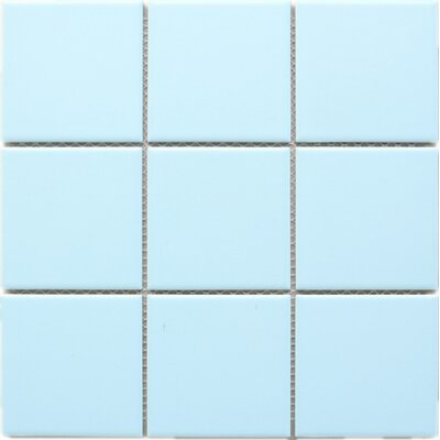 Cloud 4 x 4 Porcelain Tile in Blue