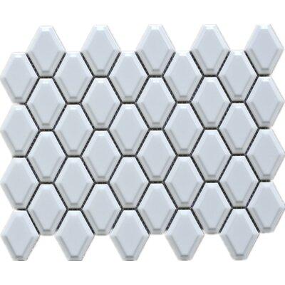 Diamond 3 x 3 Porcelain Mosaic Tile in White