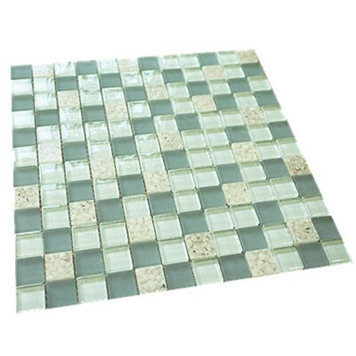 1 x 1 Mixed Material Tile in Turquoise