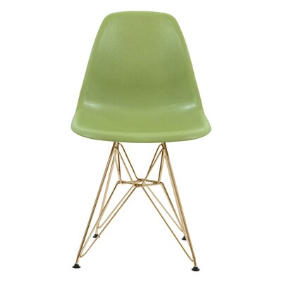 Riehemann Molded Dining Chair Color: Green