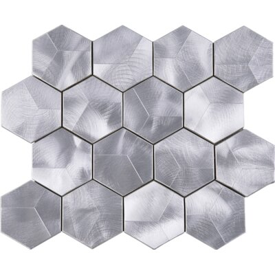 3 x 3 Metal Tile in Aluminum