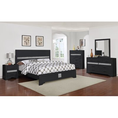 Geist 5 Queen Panel Piece Bedroom Set