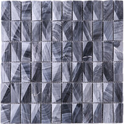 1 x 2 Marble Tile in Gray