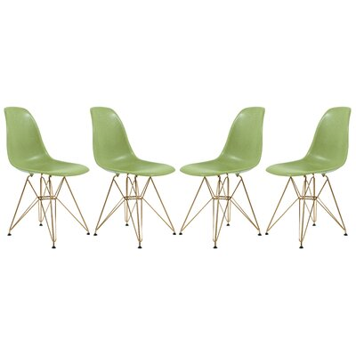 Sikes Molded Dining Chair Color: Green