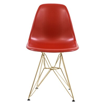 Riehemann Molded Dining Chair Color: Red